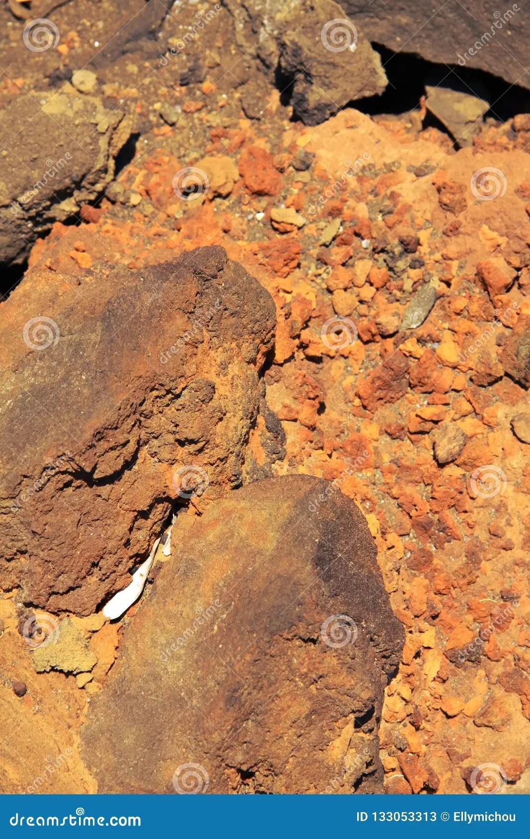 Volcanic Soil Texture Stock Photo