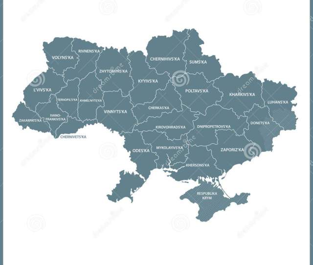 The Detailed Map Of Ukraine With Regions Or States Administrative Division Crimea Part