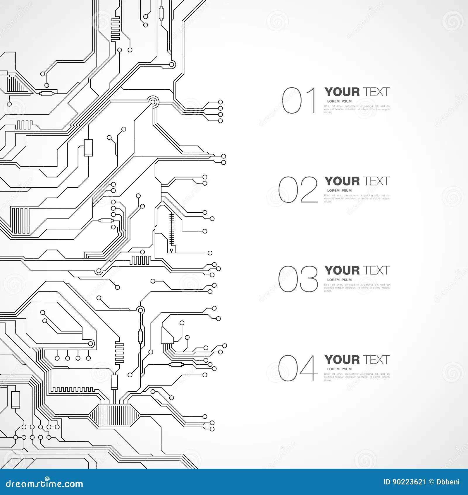 Detailed Printed Circuit Board Design Stock Vector