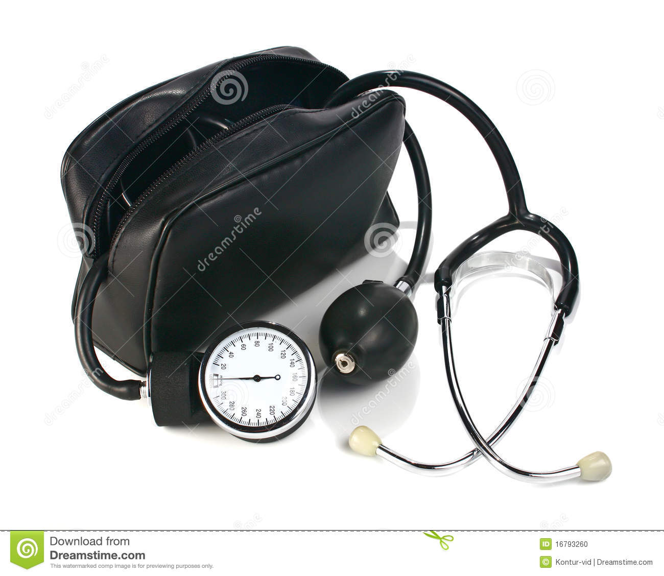 A Device Reading Blood Pressure Stock Photo