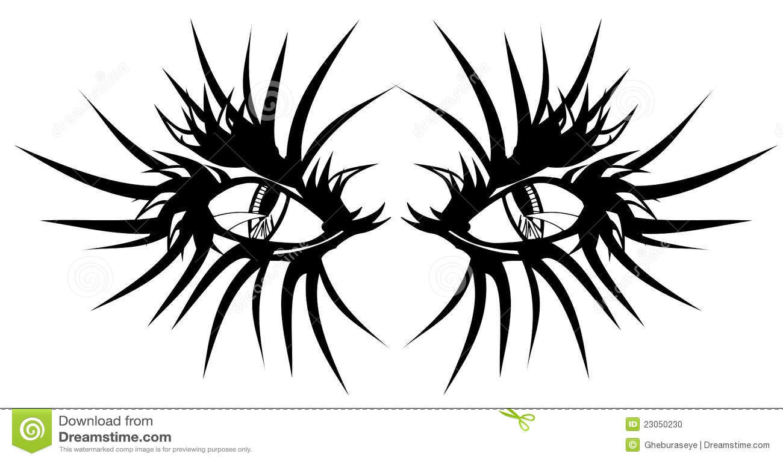 Devil Eyes Tattoo Stock Vector Illustration Of Pattern