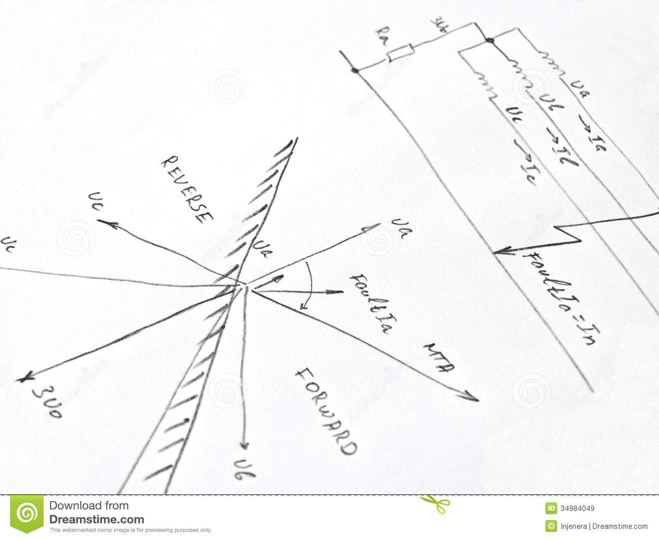 Diagram Withysis Of Network Short Circuit Stock Image