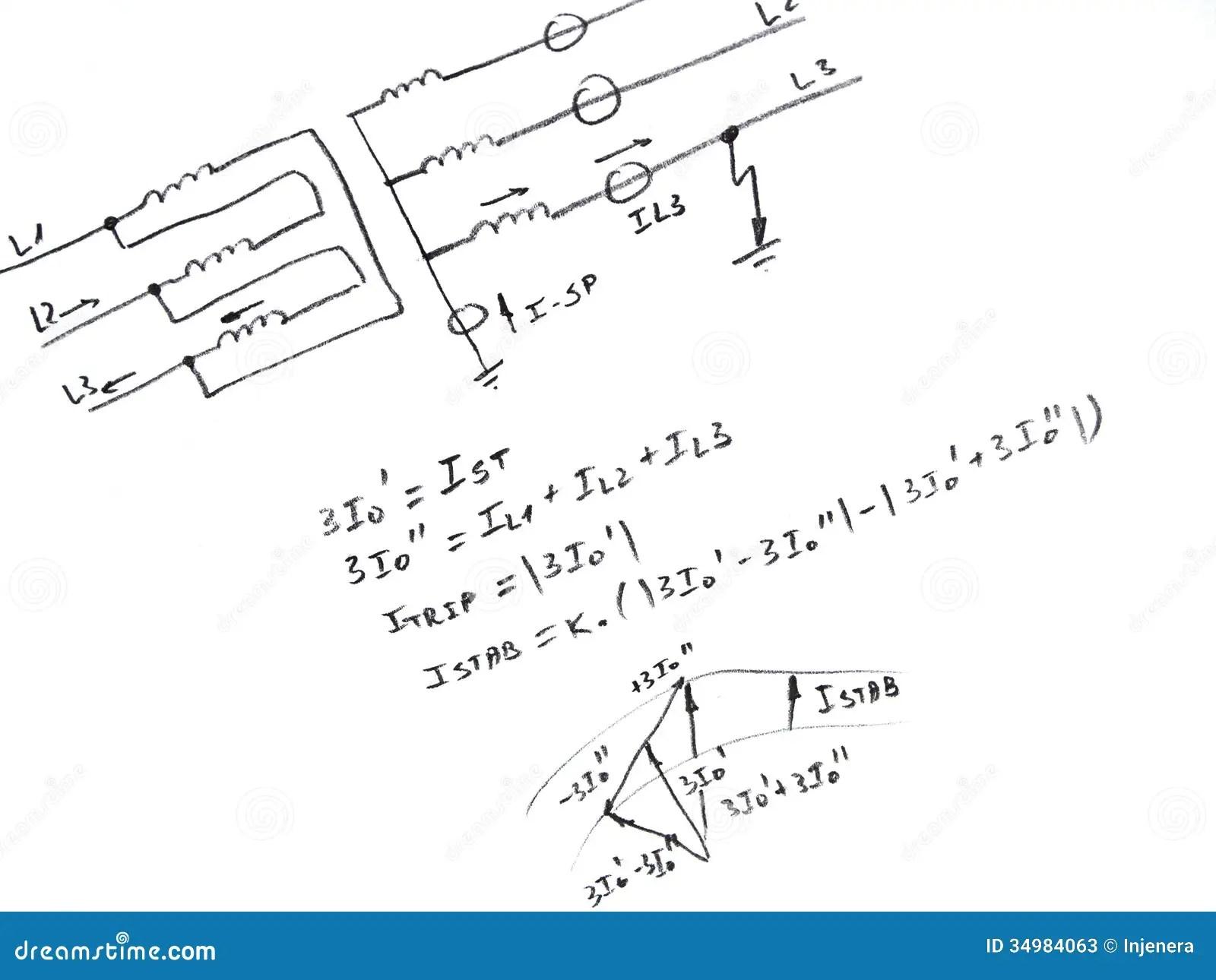 Diagram Withysis Of Network Short Circuit Stock Photos