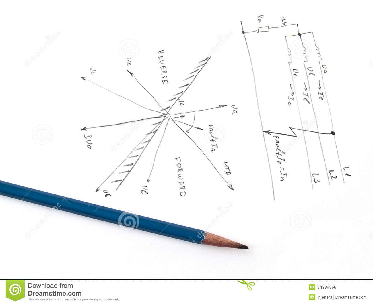 Diagram Withysis Of Network Short Circuit Royalty Free Stock Image