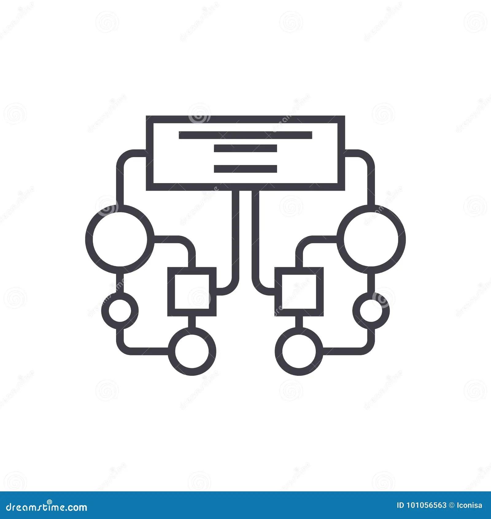 Diagram Block Vector Line Icon Sign Illustration On