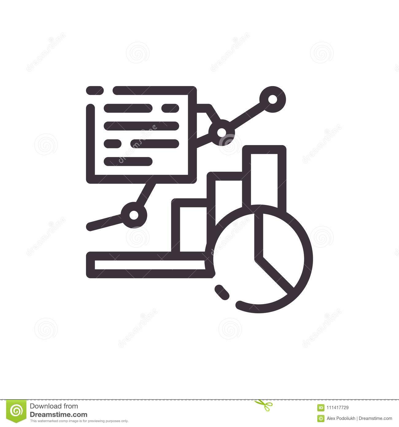 Diagram And Icon Of The Growth Chart Stock Vector