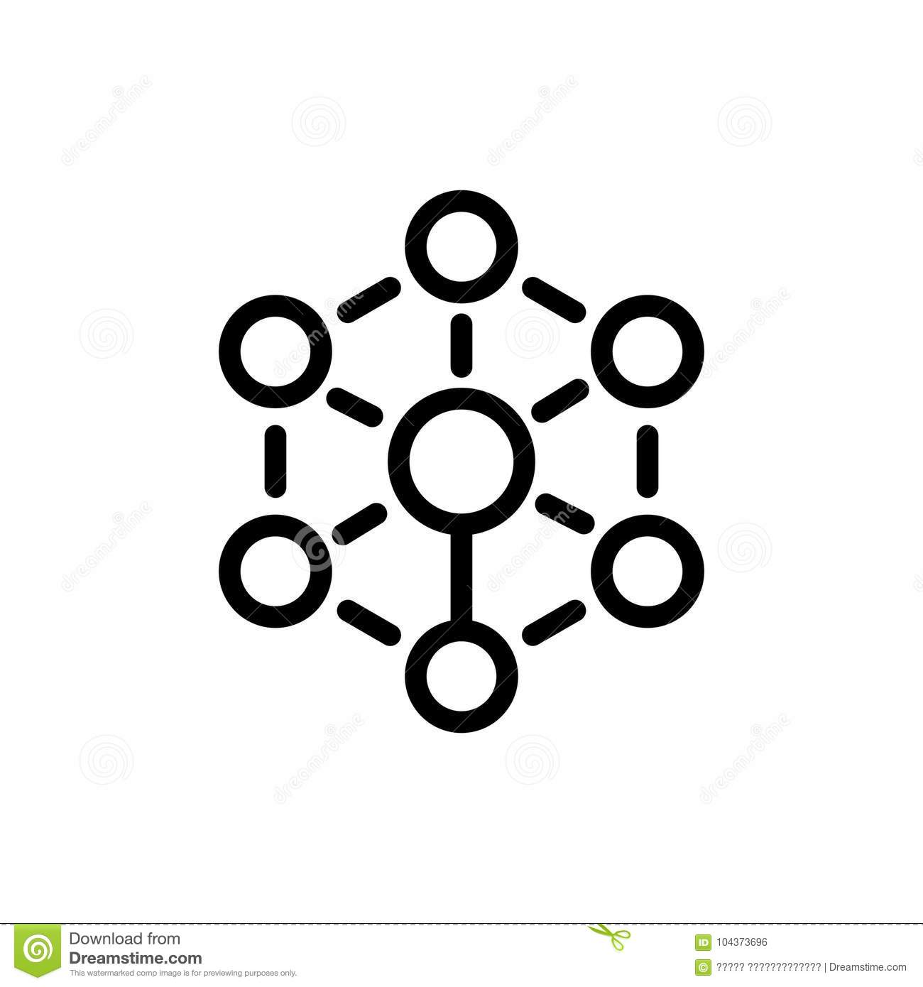 Diagram Flat Icon Stock Vector Illustration Of Hierarchy