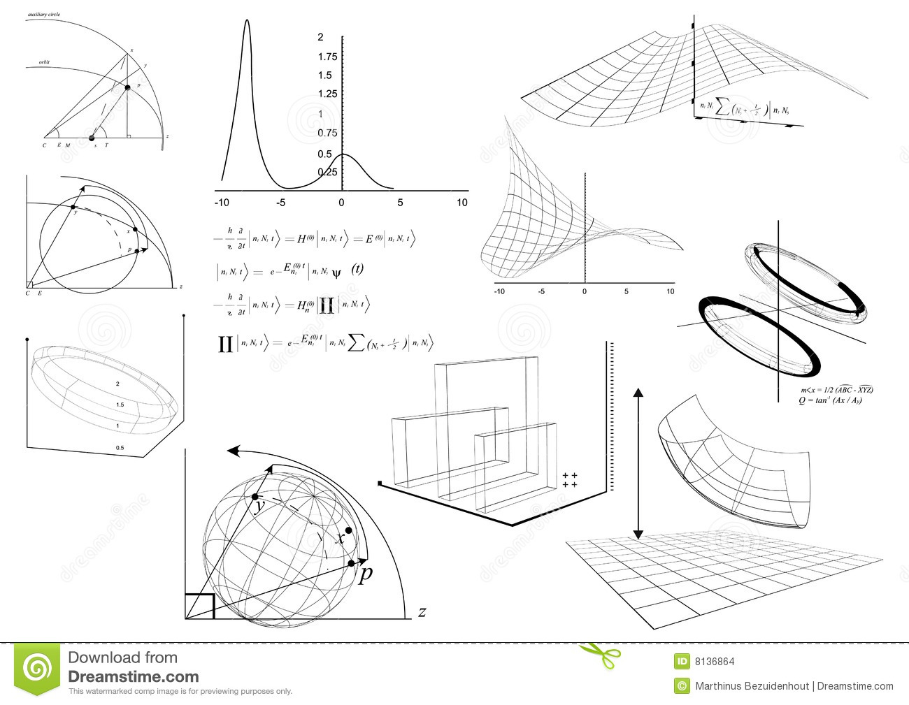 Diagrams And Equations Stock Illustration Illustration Of