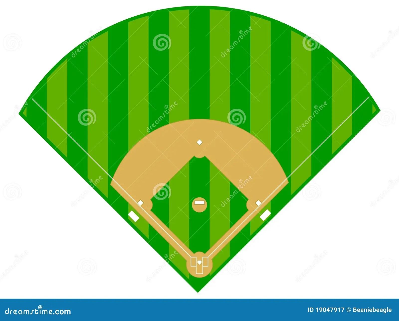 Diamant De Base Ball Photographie Stock Libre De Droits