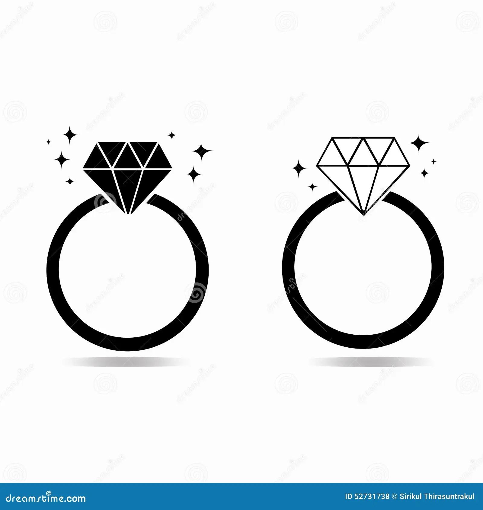 Diamantverlobungsring Des Liebeskonzeptes Stock Abbildung