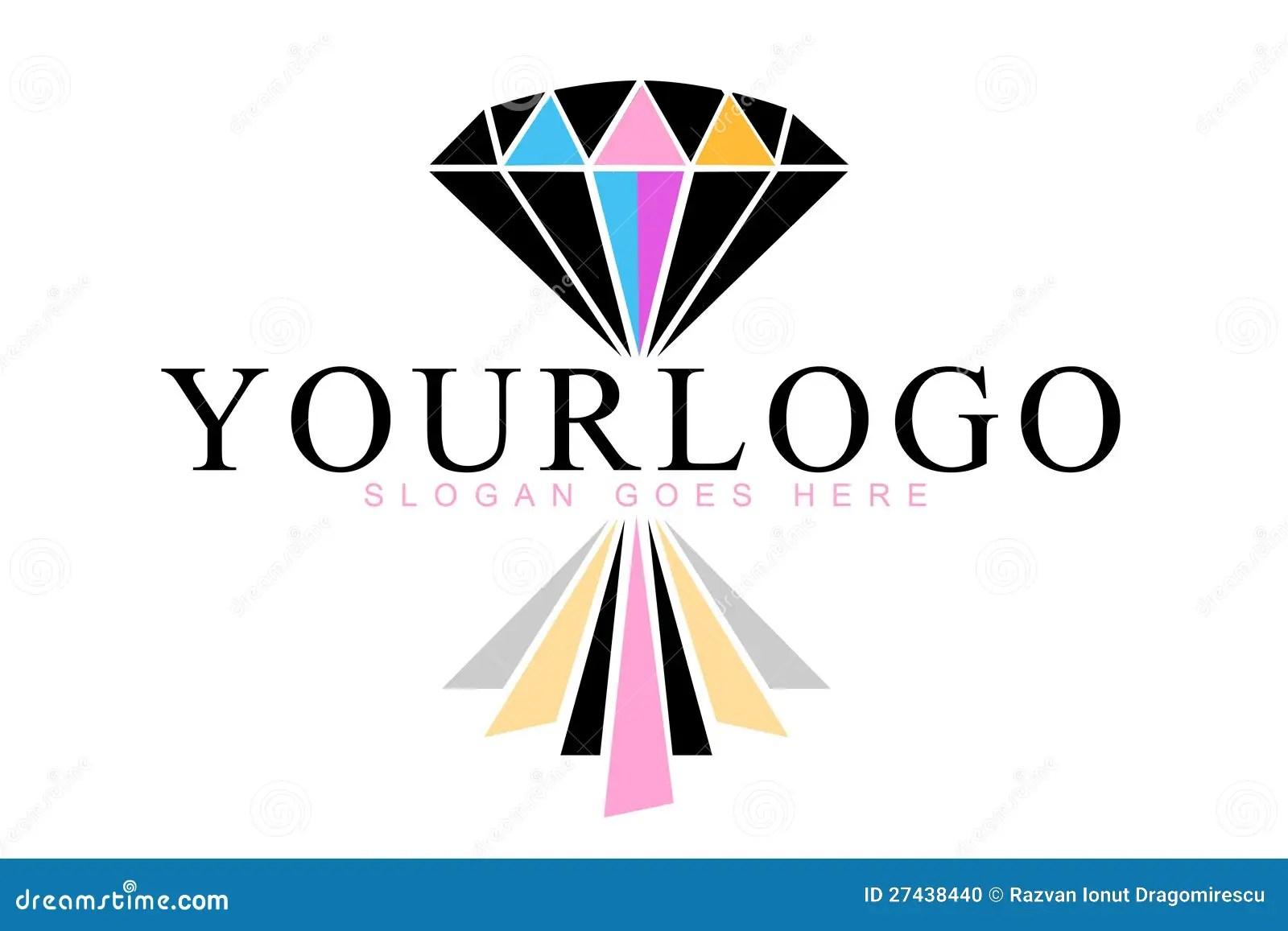 Diamond Reflection Logo Stock Illustration Illustration