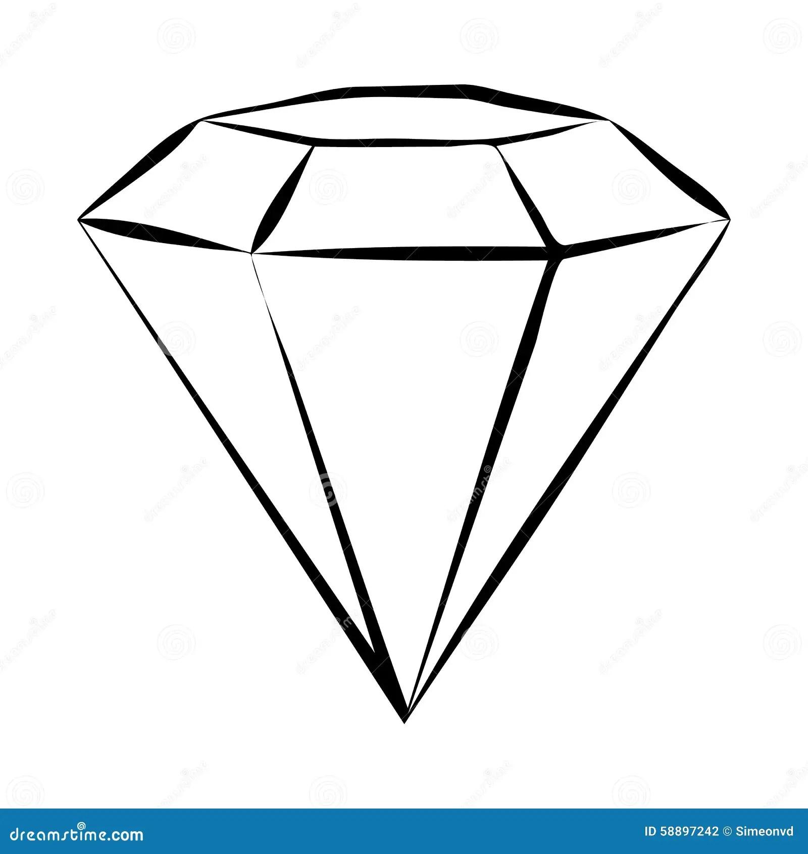 Diamond Skech Illustration De Vecteur Illustration Du