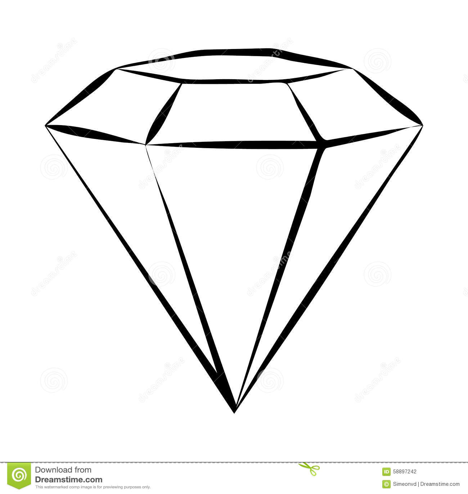 Diamond Skech Stock Vector Illustration Of Faceting