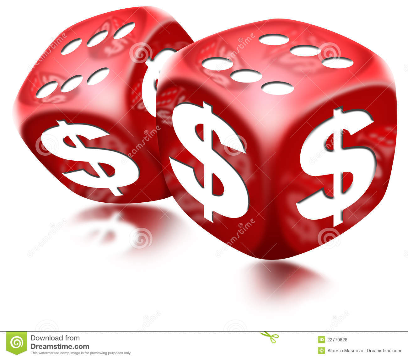 Dice Dollar Game Stock Illustration Illustration Of Luck