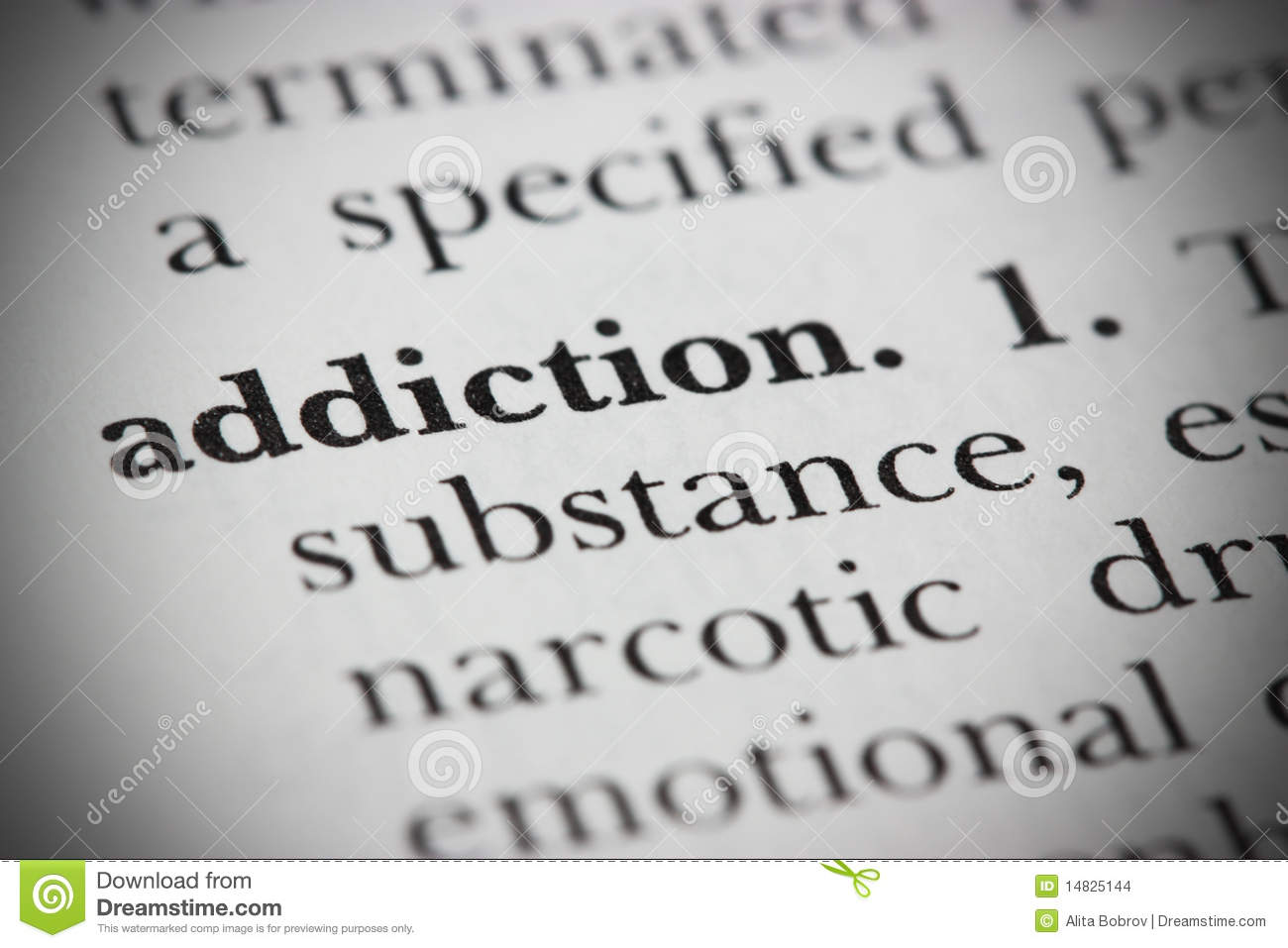 Dictionary Word Addiction Stock Photo Image Of Habit