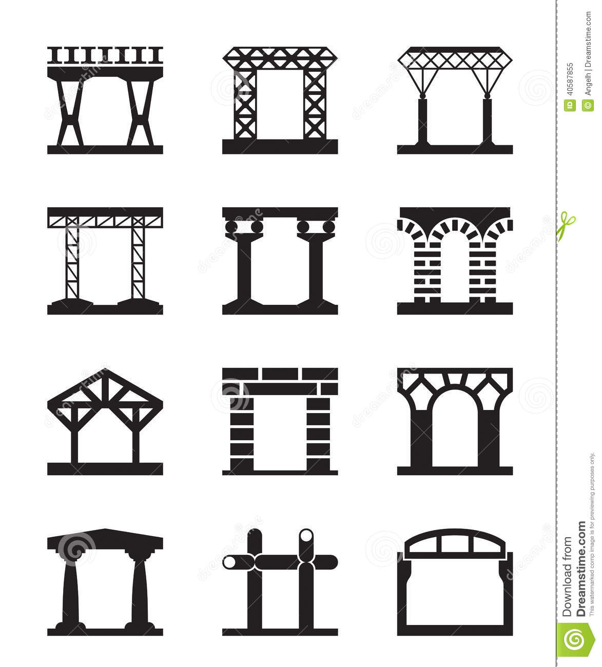 Different Types Of Building Structures Stock Vector