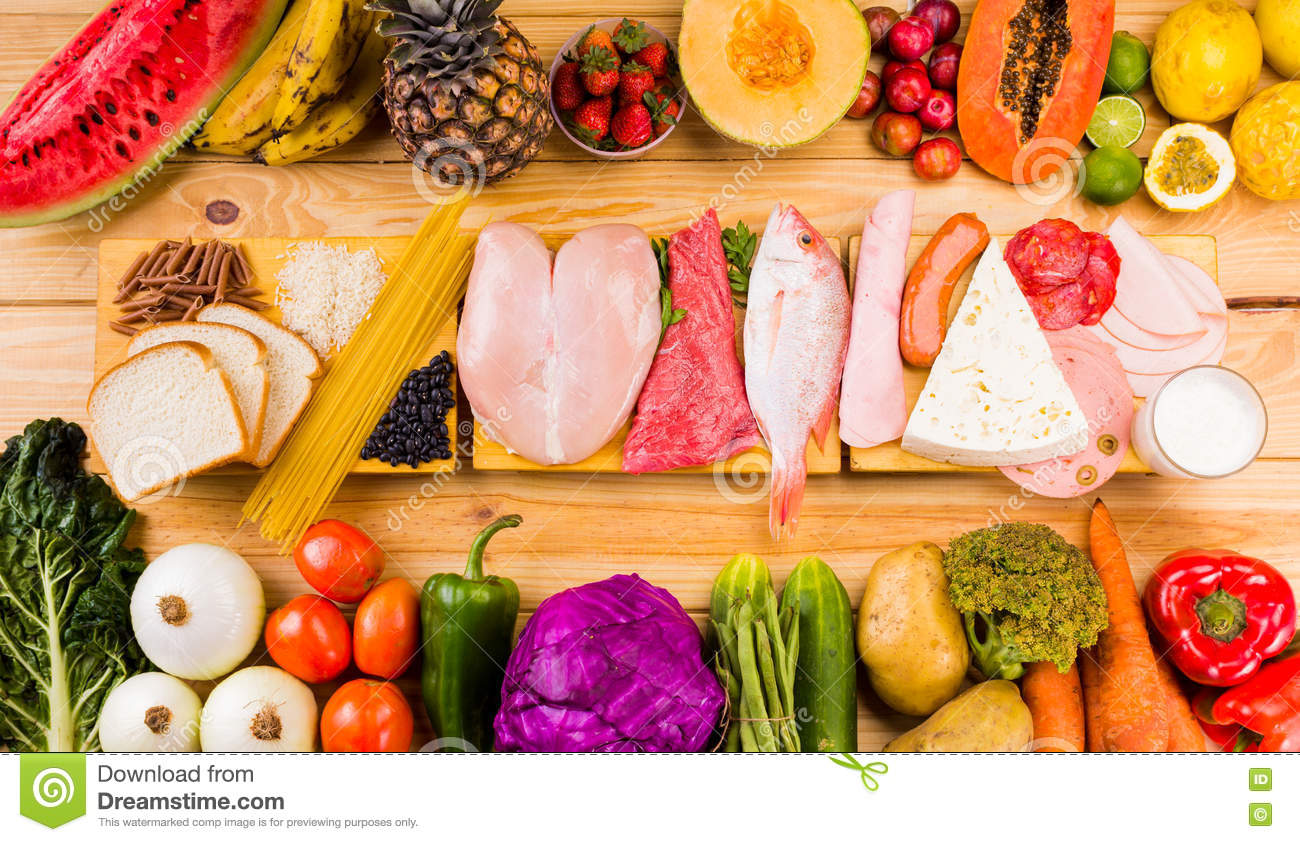 Different Types Of Foods Stock Image Image Of Multi