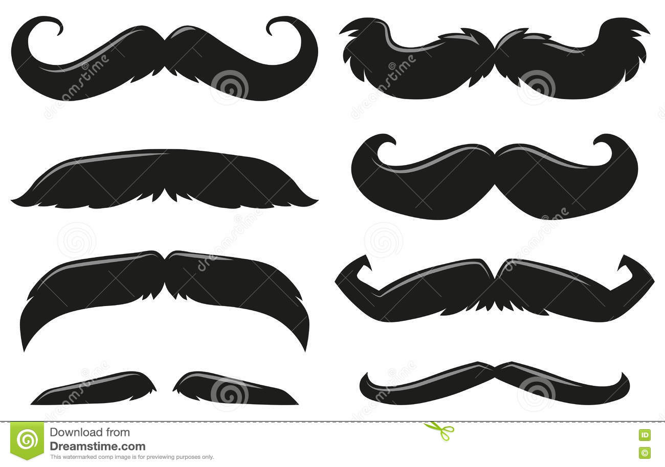 Different Types Of Mustache Stock Illustration