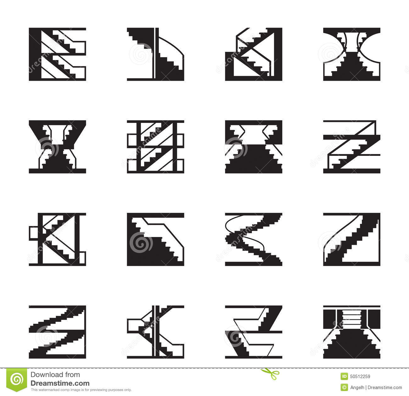 Metal Structures Icon Set Vector Illustration