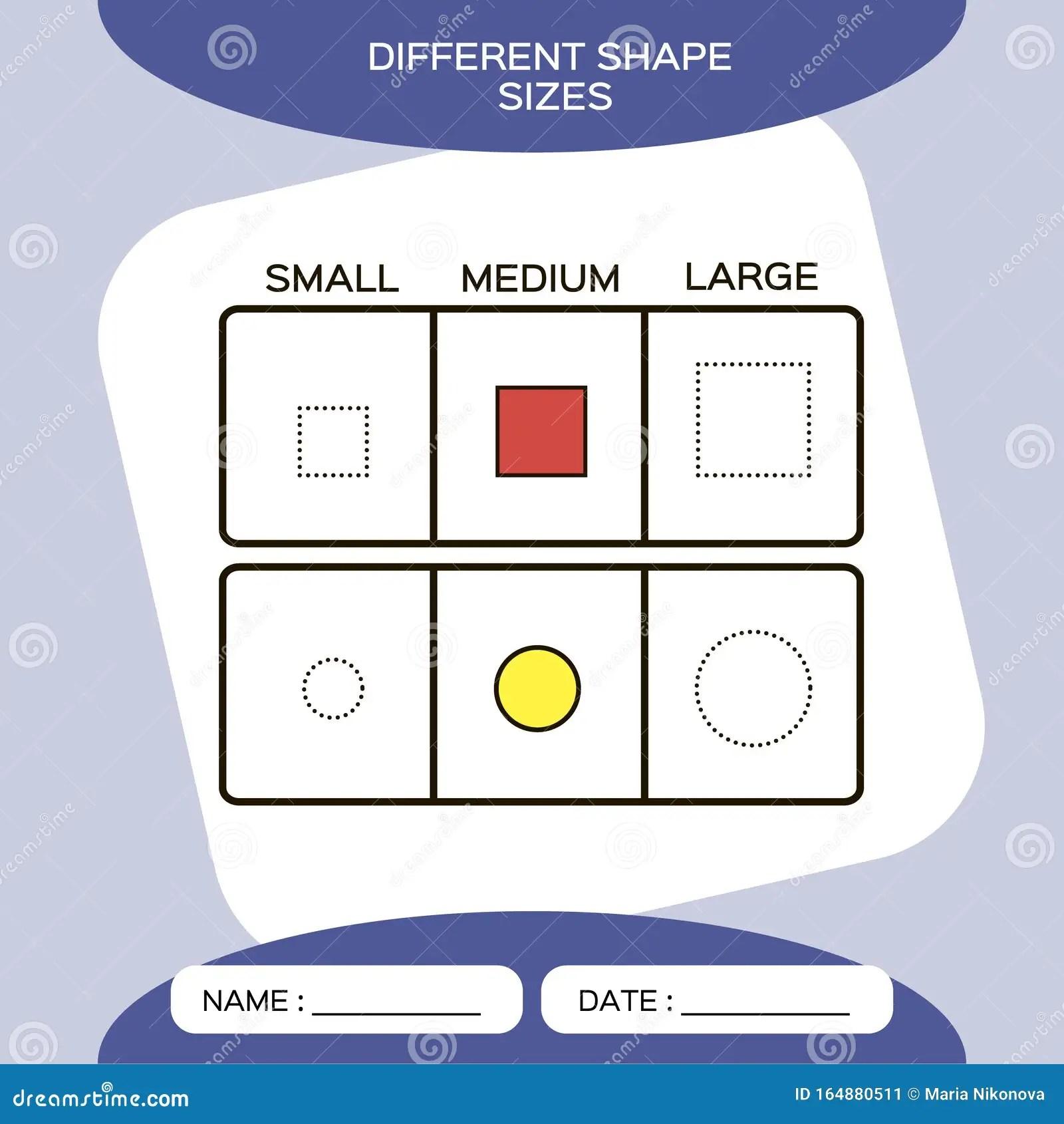 Differnt Shape Sizes Small Medium Large Matching