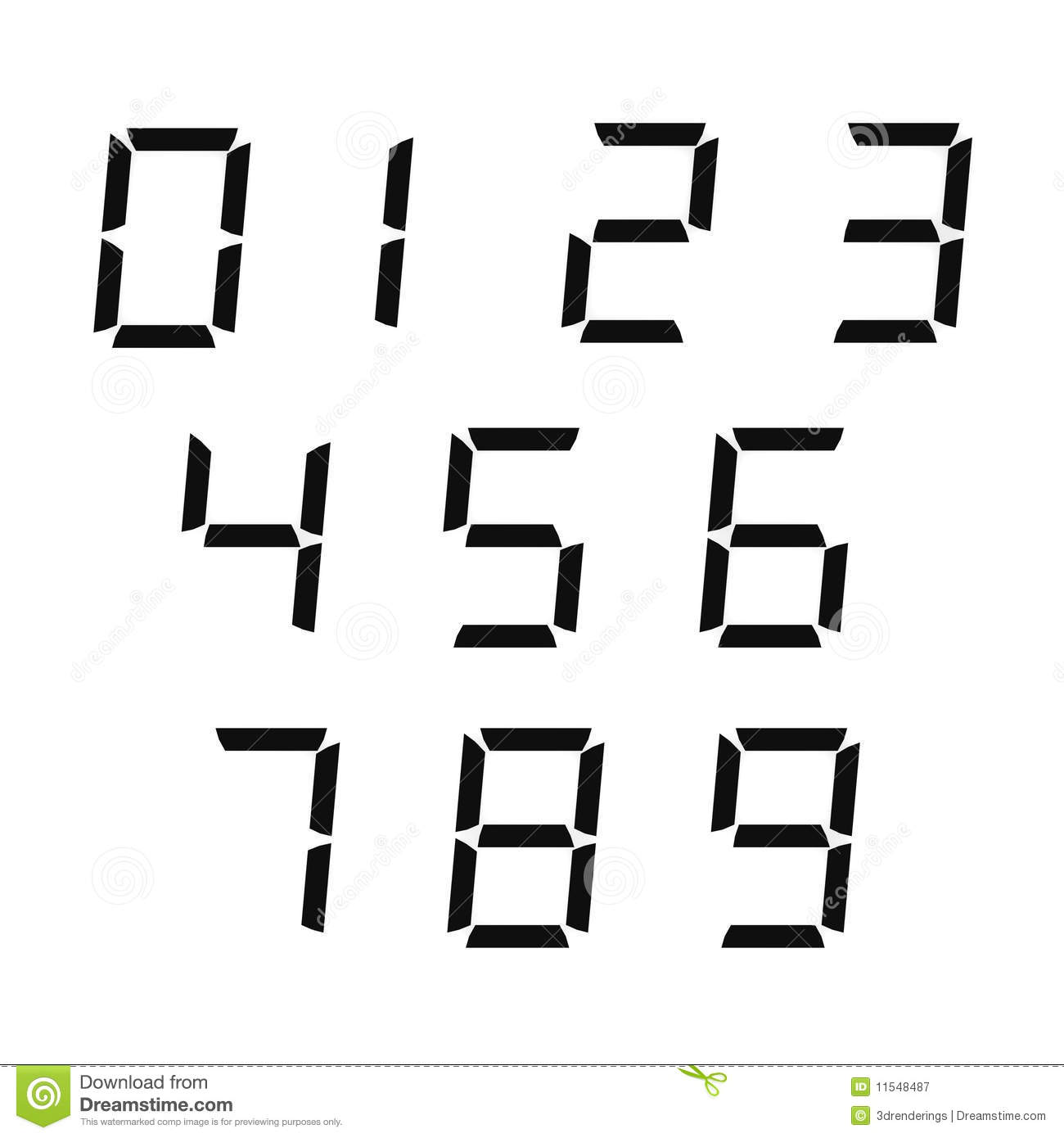 Digital Numbers Royalty Free Stock Photography