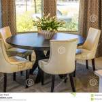 Dining Room Table Chairs Stock Image Image Of Highback 107821525