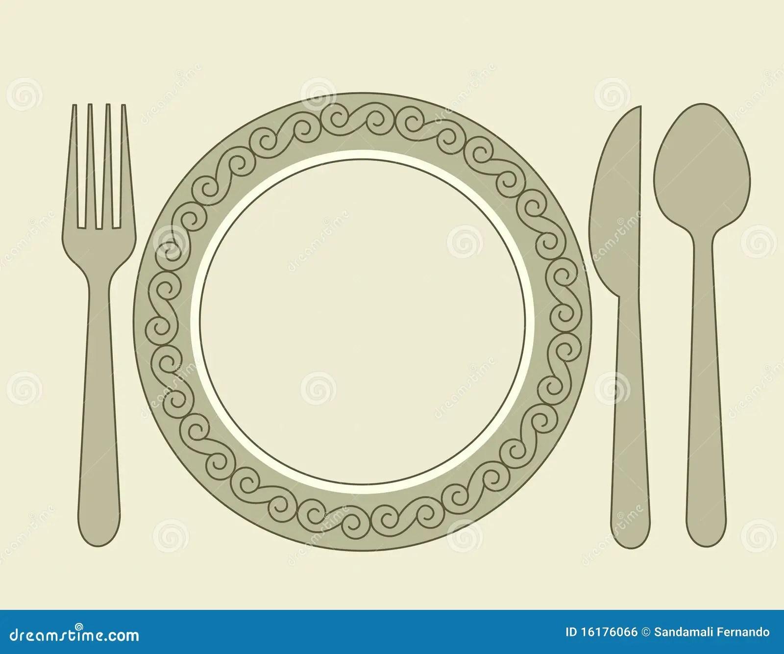Dinner Invitation Stock Vector Illustration Of Blank 16176066