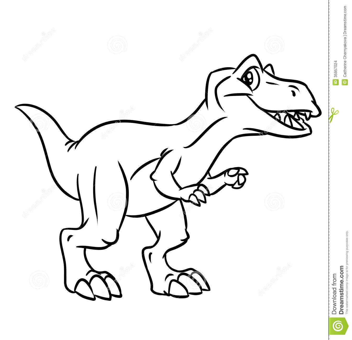 Dinosaur Coloring Pages Stock Illustration Illustration Of Coloring