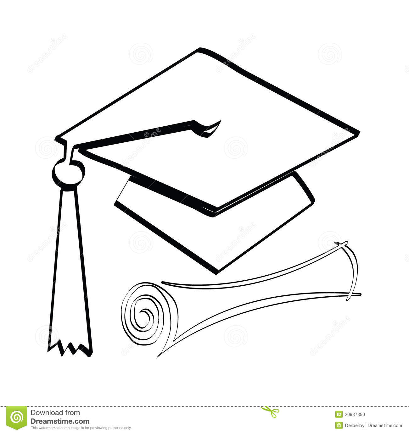 Diploma And Cap Stock Photo