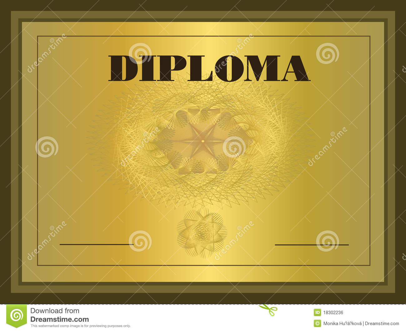 Diploma Gold Frame Stock Vector Illustration Of Check 18302236