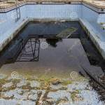 A Dirty And Abandoned Pool With Little Water Abandoned Pool Abandoned Swimming Pool Ruined Pool Stock Image Image Of Sadness Damage 175983609