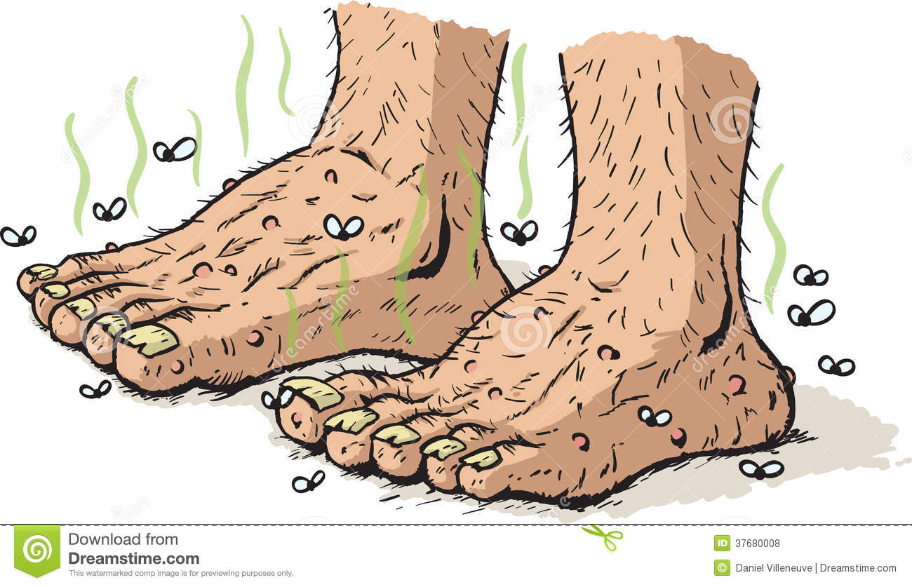 Dirty Old Feet Royalty Free Stock Photos