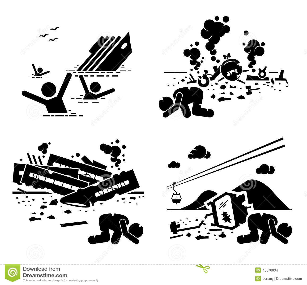 Disaster Accident Tragedy Ship Plane Train Cable Car