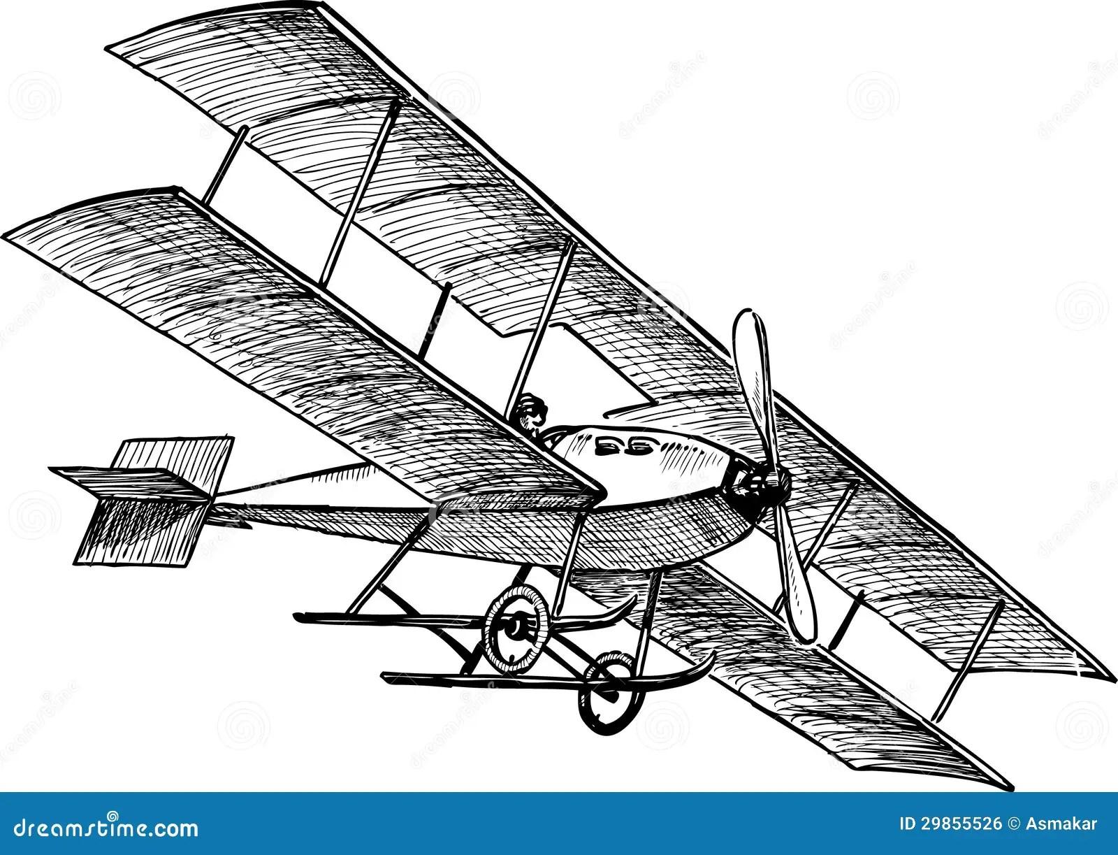 Aeroplano Antico Illustrazione Vettoriale Illustrazione