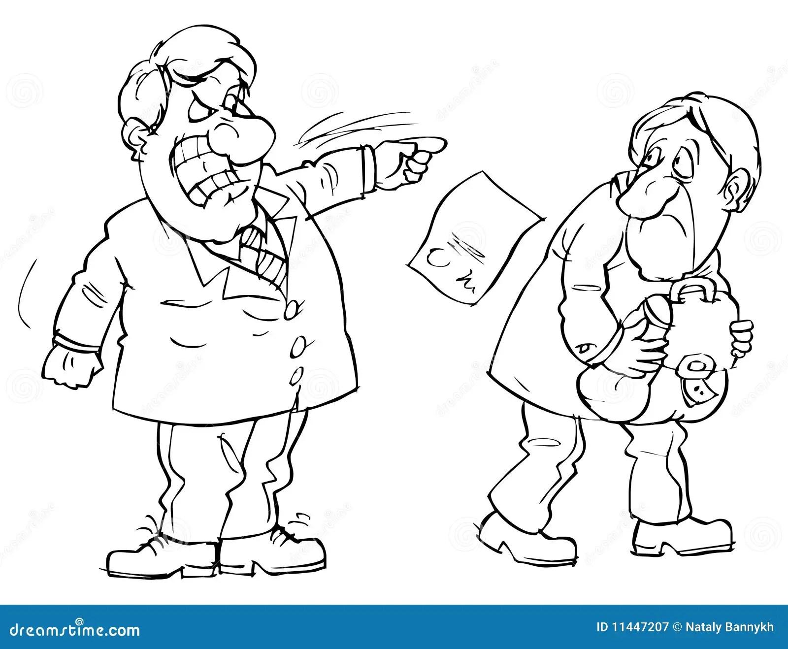 Dismissal From Office Stock Vector Illustration Of