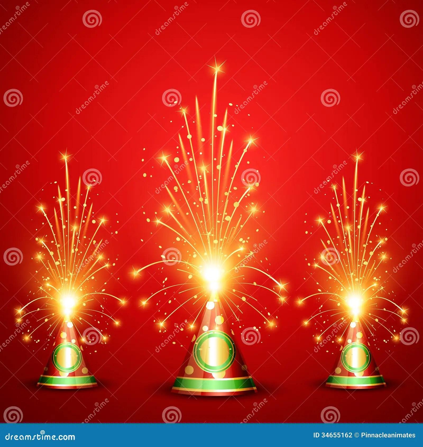Diwali Crackers Background Stock Illustration