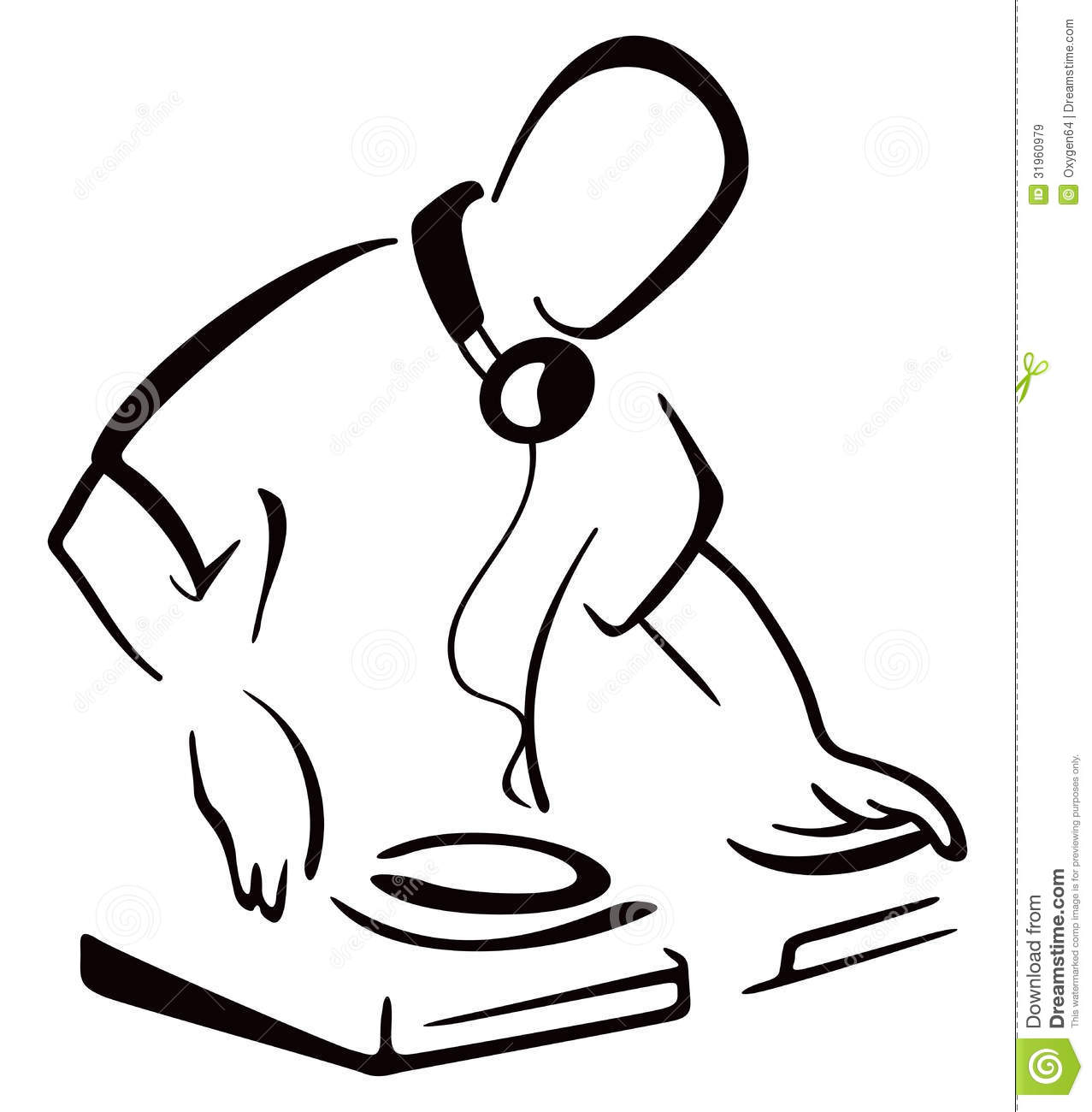 Dj Behind Console Royalty Free Stock Images