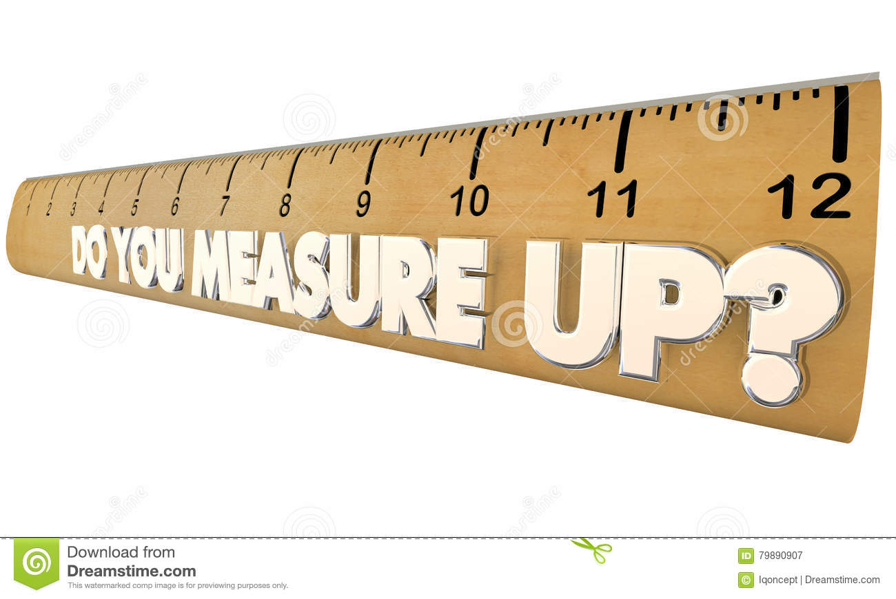 Do You Measure Up Ruler Qualified Evaluation Review Stock