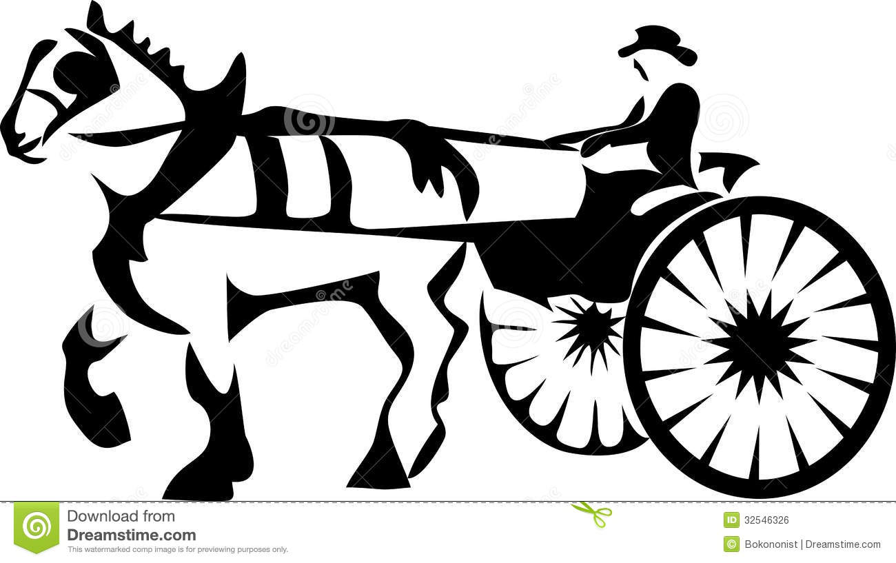 Dobbin Stock Vector Illustration Of Buggy Harness Mane