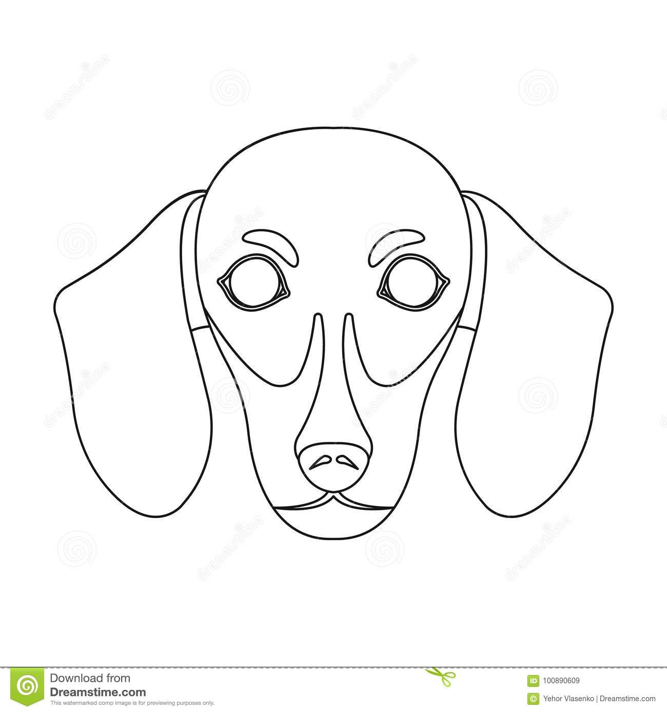 Dog Breed Dachshund Zzle Of The Dachshund Single Icon