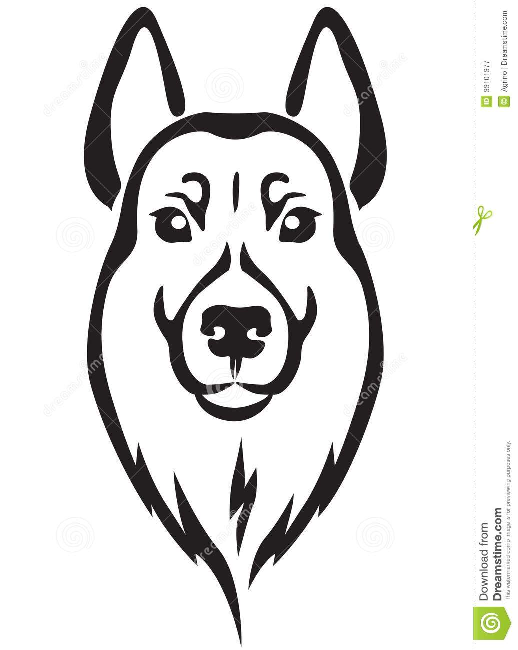 Dog S Head Royalty Free Stock Photography