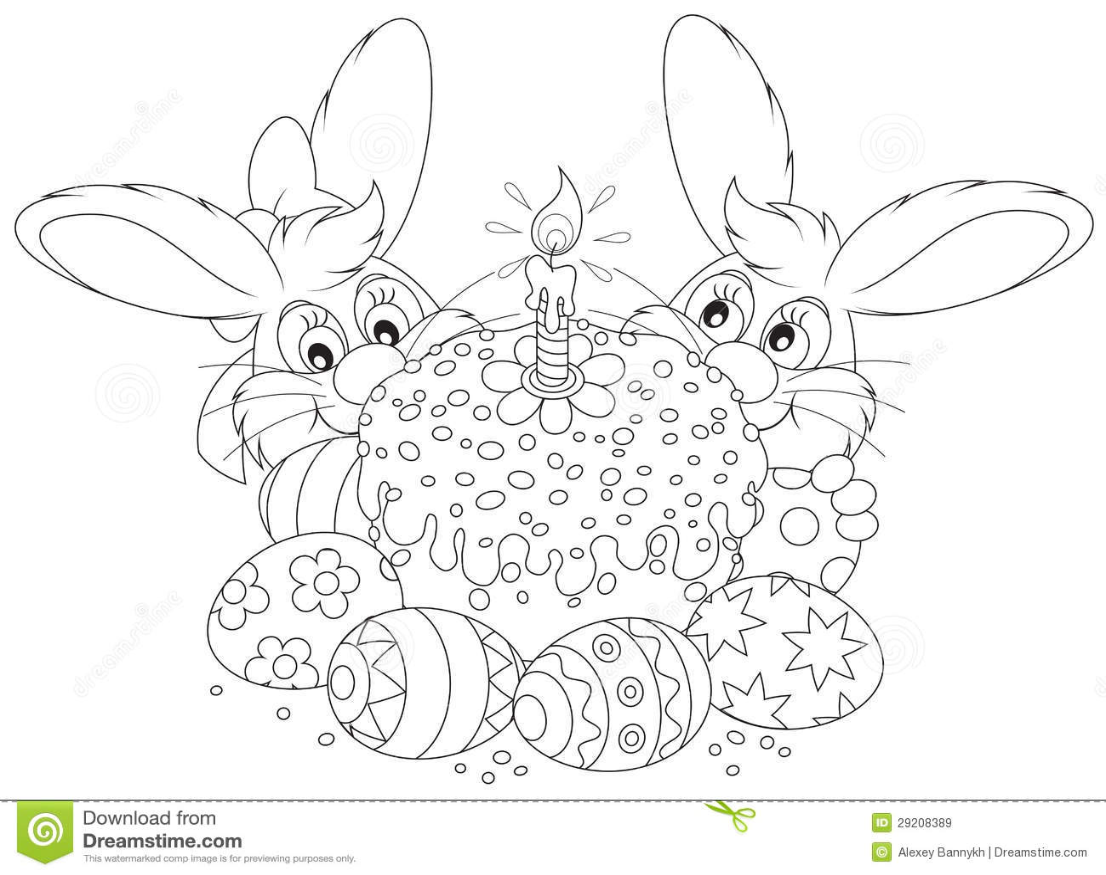 Dolce Ed Uova Di Pasqua Illustrazione Vettoriale