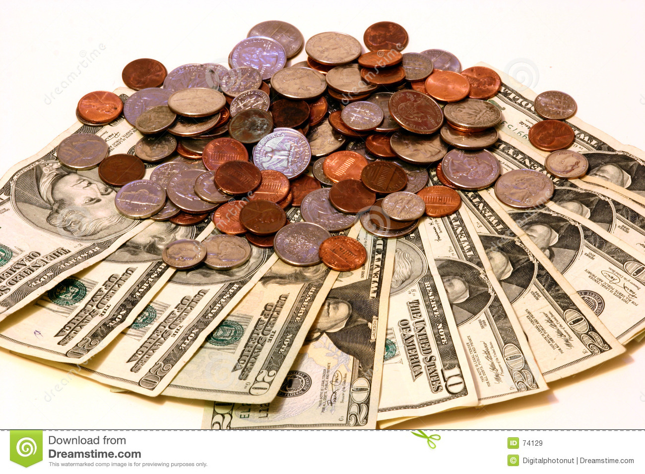 Dollars And Cents Stock Image Image Of Bank Nickels