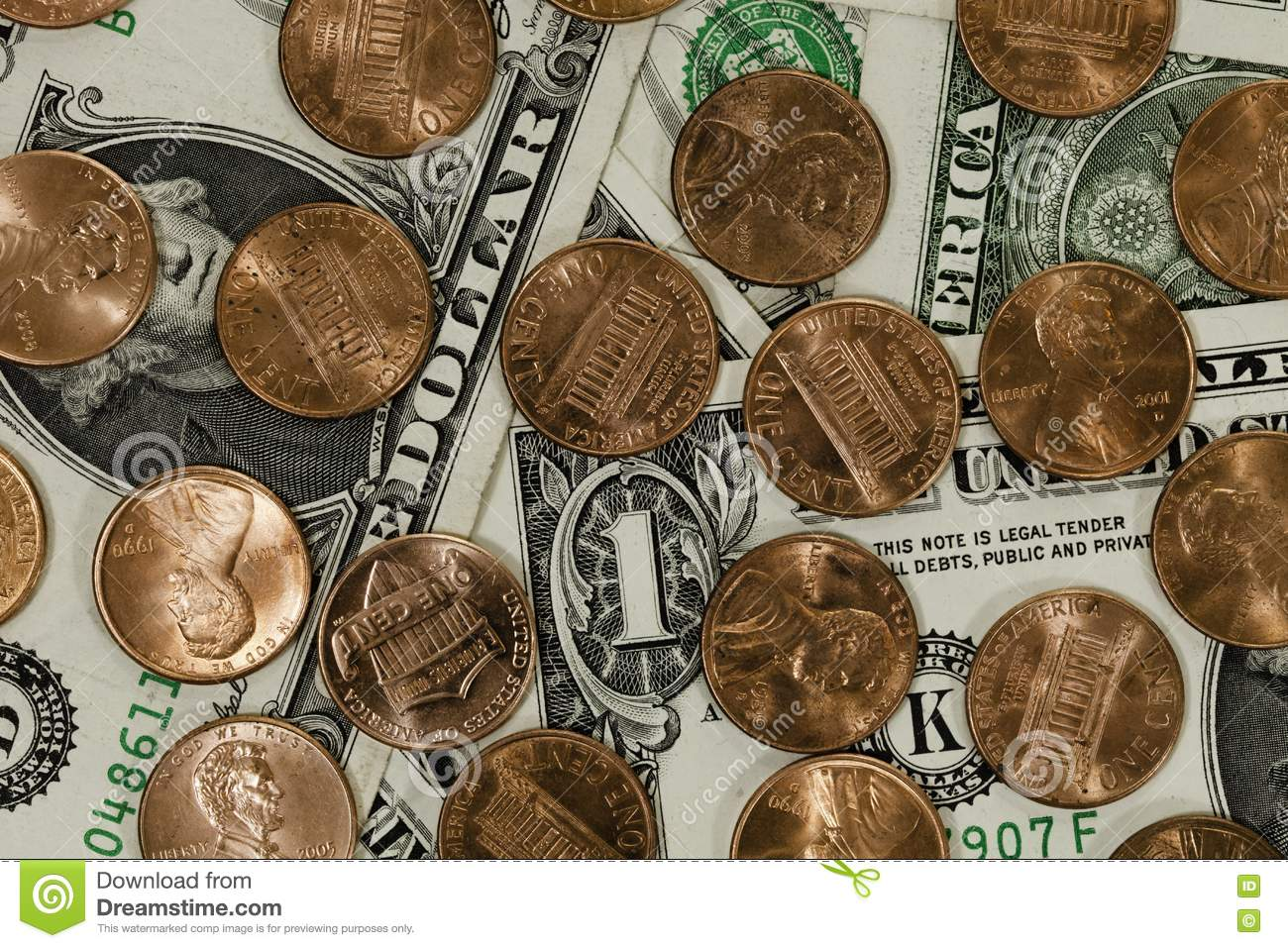 Dollars And Cents Decisions Royalty Free Stock Photos