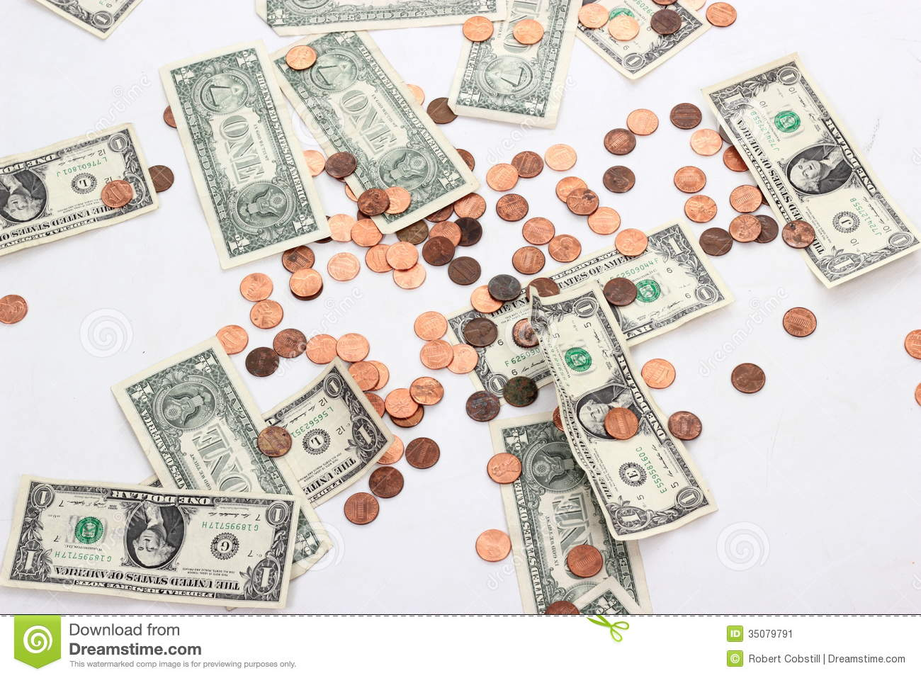 Dollars And Cents Stock Image Image Of Finance Copper