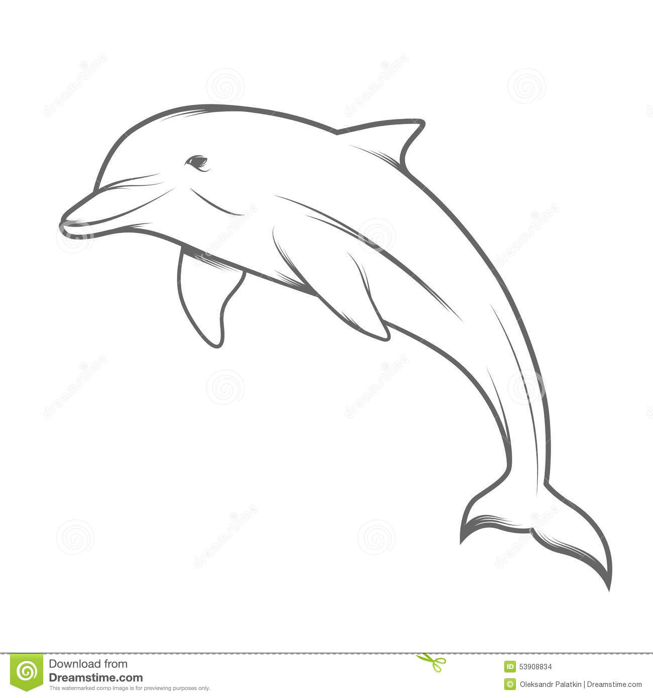 Dolphin Illustration Stock Vector Illustration Of Mammals