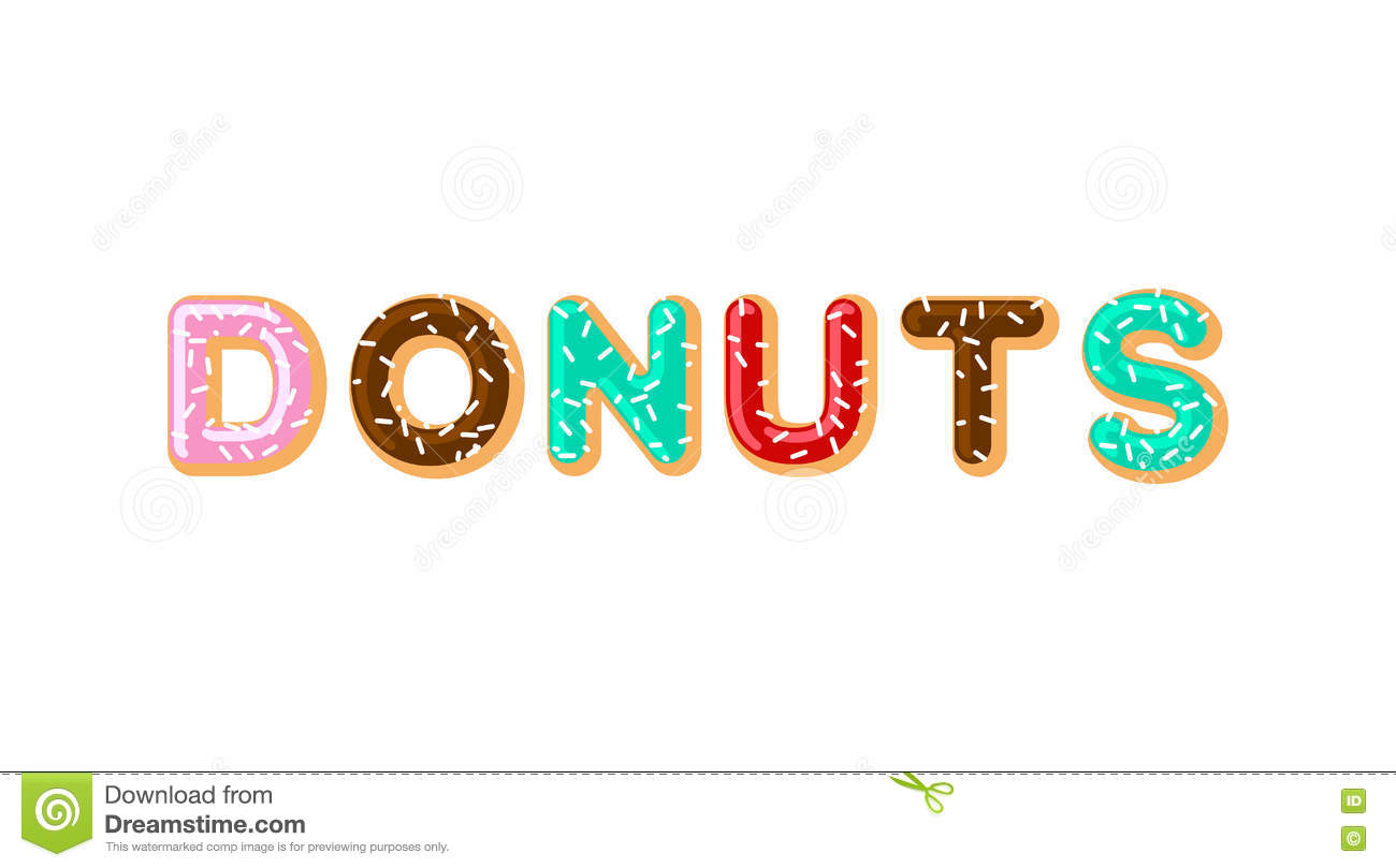 Donuts Typography Pie Alphabet Baked In Oil Letters