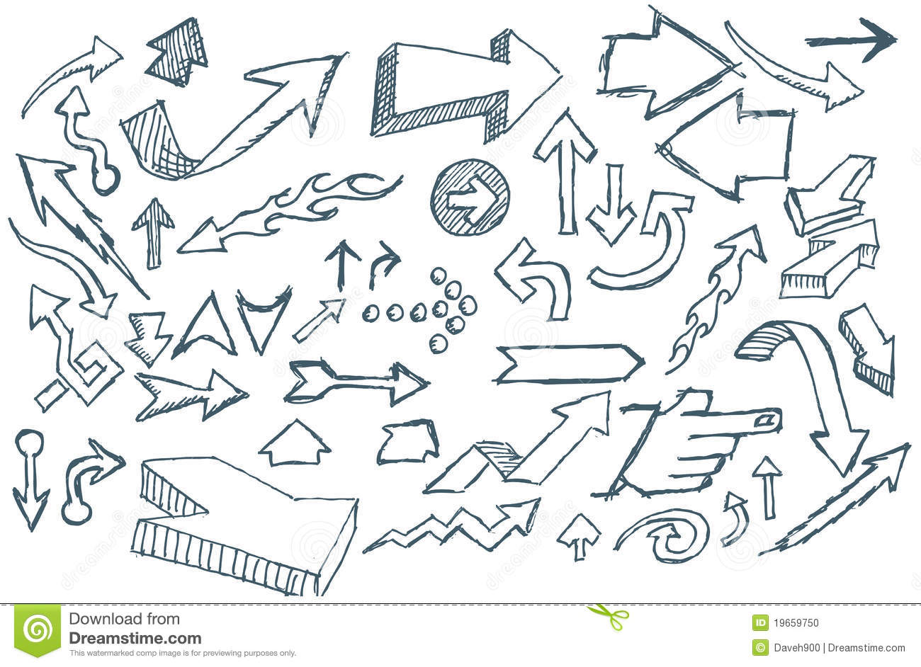 Doodle Arrows Stock Vector Illustration Of Elements