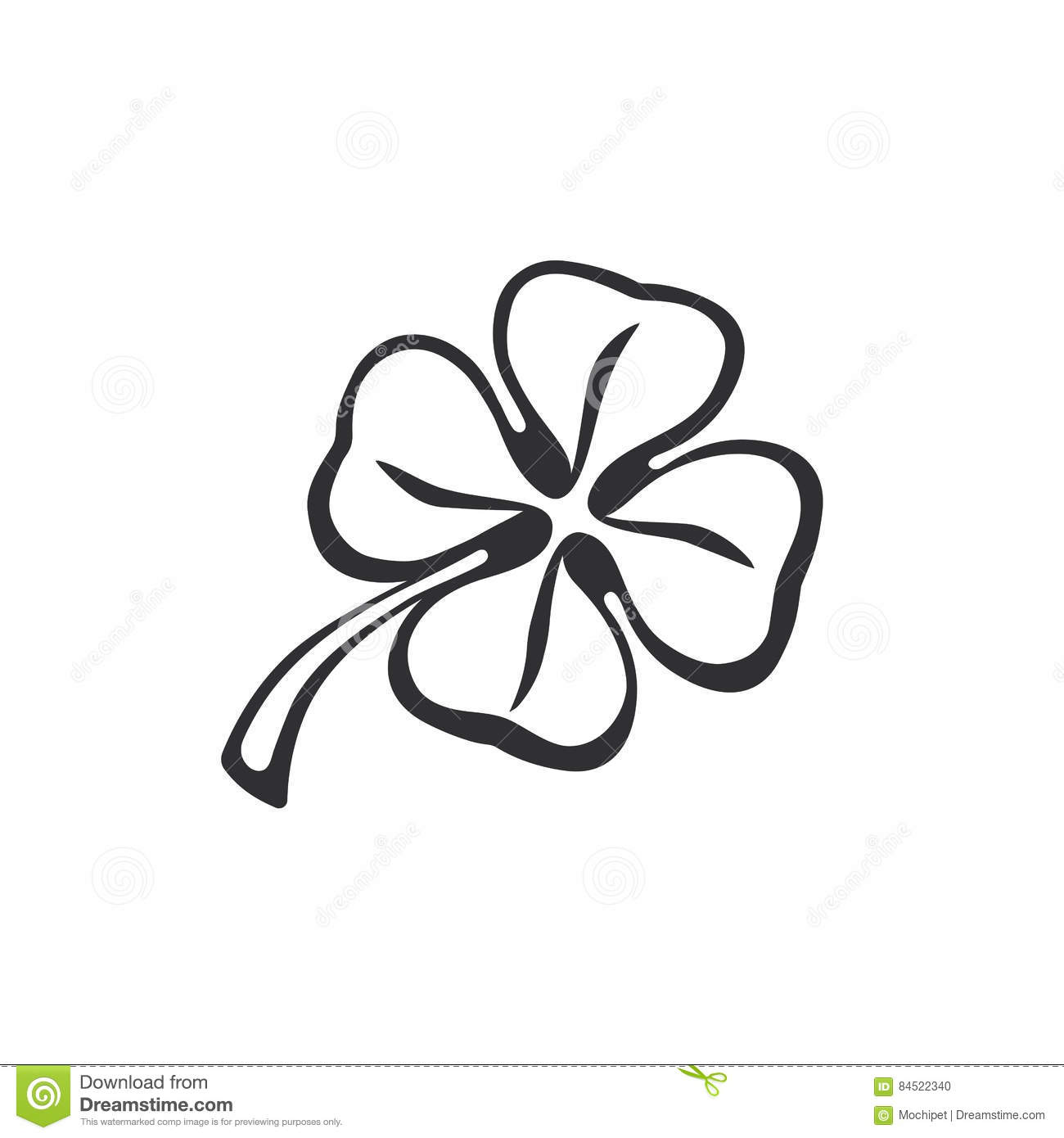 Doodle Of Clover Stock Vector Illustration Of Emblem