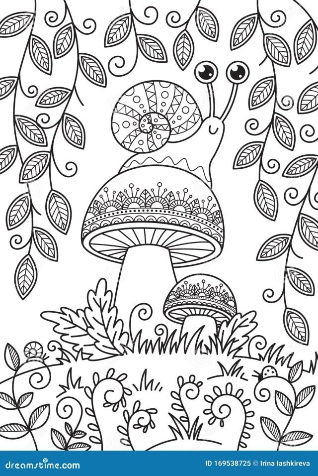 Adult Coloring Mushroom Stock Illustrations – 28 Adult Coloring
